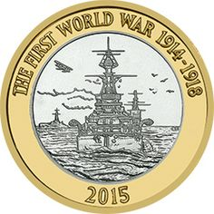 This pays tribute to the Royal Navy and its role in reverse features David Rowlands design of a battleship approaching the open sea. English Coins, Coin Design, Gold Money, Challenge Coins, Royal Navy, Buisness, Coin Collecting, First World, Archaeology
