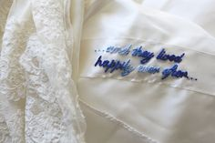 LOVE this idea! Something blue... And stitched right into your dress! <3