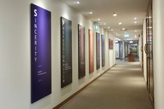 Minimalist gallery style corridor; oversized black picture frame