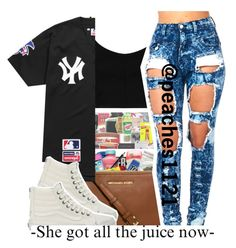 """."" by para-diceee ❤ liked on Polyvore featuring Topshop, Supreme and Vans"