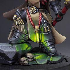 Warhammer Paint, Warhammer 40k Art, Warhammer Models, Warhammer 40k Miniatures, Salamanders Space Marines, Warhammer 40k Blood Angels, Fantasy Miniatures, Mini Paintings, Figure Painting