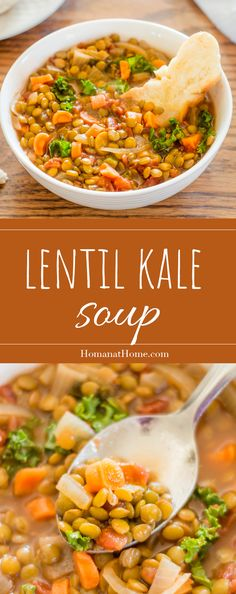 As healthy as it sounds, and so, so delicious! Lentil and kale soup is an easy dinner that's full of fiber, antioxidants, and flavor!