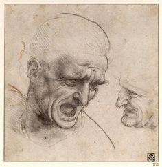 Old Master Figure Drawings | Leonardo-da-Vincis-Heads--007.jpg