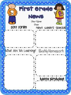 5th grade newsletter template - 1000 images about class newsletter on pinterest