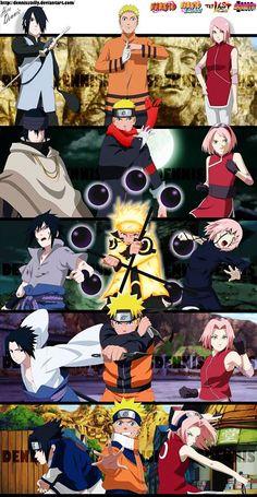 Naruto Sasuke Sakura los nuevos 3 Legendarios Sanin