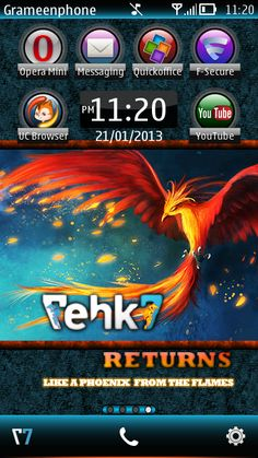 Free Tehkseven Returns !!! theme by bdroid on Tehkseven
