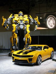 """""""Bumblebee"""" A first look at the new style of Camaro ~ very cool..."""