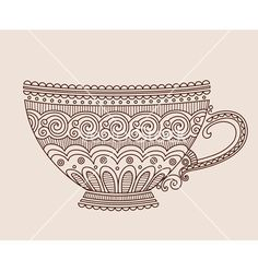 A cup of patterns vector  - by Orhideia on VectorStock®