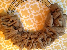 Super Easy Burlap Wreath | Some Kind of Lovely Ride