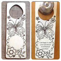 Wood-Burned Door Hanger Child's Room Sign Baby's by SueMadeThat