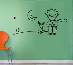 The Little Prince  Fox Moon Star Decor Mural Art Wall Sticker Decal WY754