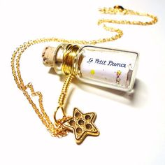 Message in a Bottle necklace Le Petit Prince/The by BelladeJour