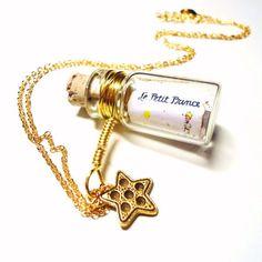 Message in a Bottle necklace Le Petit Prince/The by BelladeJour