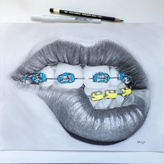 All done!!! I doubt I'll be doing another braces drawing anytime soon! Hope you like!