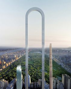 The Big Bend is a proposed skyscraper to be constructed in New York City. The skyscraper, which was designed by the New York architecture firm Oiio Studio, has been described as the longest building in the world. Unique Buildings, Amazing Buildings, World Trade Center, Futuristic Architecture, Amazing Architecture, Urban Architecture, Conceptual Architecture, Building Architecture, Conceptual Design