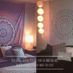View a slide show of boho throws and mandala tapestries used to enhance the beauty of your home and add a unique dimension to your decor available from Mandala Tapestry, Boho Decor, Boho Fashion, Indoor, Lifestyle, Bedroom, Inspiration, Home, Products