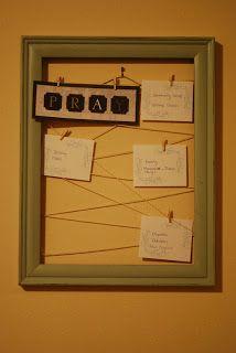 Simply Mangerchine: prayer board