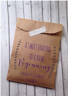 Customized Wedding or Event Favor Bags, packs of 25  I love an element at any gathering that makes guests say ohhh- Did you see this!? It can be