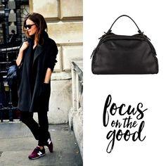 Focus on the Good! www.marington.nl #quote #tas #tassen #fashion #black
