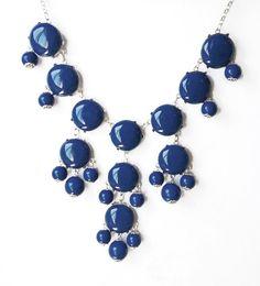 Nave Blue Necklace,Bib Statement bubble Necklace,Resin Necklace,Statement Necklace