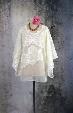 Lace Hippie Boho Dress Top by LaineeLee on Etsy