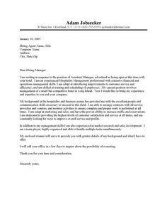 Cover letter for hotel and restaurant management sample cover letter for finance manager position ideas of Job Cover Letter Examples, Cover Letter Format, Cover Letter Tips, Cover Letter Sample, Cover Letter For Resume, Cover Letters, Application Letter For Employment, Job Application Letter Format, Letter Of Interest Job