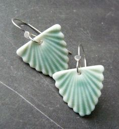 ceramic earrings (art-deco inspired?)