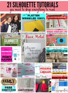21 Silhouette Tutorials (You need to Drop Everything to Read) - Silhouette School