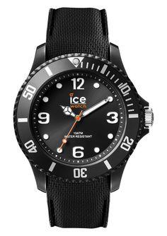 Ice-Watch Sixty Nine Black Medium IW007277. Trendy zwart horloge uit de Ice Watch collectie. Het model Sixty Nine Medium heeft een zwarte kast, wijzerplaat en siliconen band. Het horloge is 100 meter waterdicht, de kast heeft een doorsnede van 43 mm. De zwarte siliconen band heeft zwart stiksel en sluit door middel van een gespsluiting.