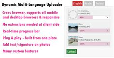 Dynamic Multi-Language Photo Uploader - http://gumbum.com/product/dynamic-multi-language-photo-uploader/