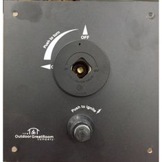 Outdoor GreatRoom Key Valve and Control Panel for Fire Pit - KV-CP-BLK-WV
