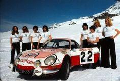 1973 team, including Anny-Charlotte Verney and Marie-Pierre Palayer Lotus Exige, Porsche 911 Gt3, Sport En France, Alpine Renault, Monte Carlo Rally, Course Automobile, Lancia Delta, Racing Team, Rally Car