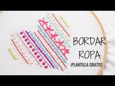 PASO A PASO  BORDADO EN CINTAS O PARA PRINCIPIANTES 2/7 - Embroidered  for beginners/CURSO GRATIS - YouTube