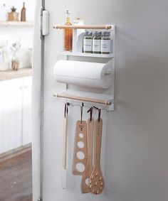White Tosca Magnetic Kitchen Organization Rack