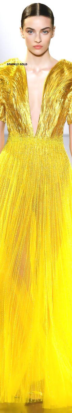 Yellow Fashion, Gold Fashion, Autumn Fashion, Yellow Clothes, Mellow Yellow, Bright Yellow, Shades Of Yellow, Couture Dresses, Yellow Dress