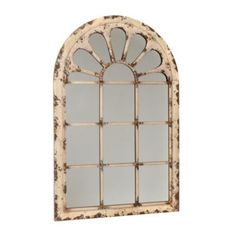 With its cream finish and unique shape, the Adelle Distressed Cream Arch Mirror is the type of vintage piece you'd search high and low for. Rummage no more! Arch Mirror, Window Mirror, Mirror Ideas, I Love Mirrors, Look In The Mirror, Mirror Above Fireplace, Garden Mirrors, Farmhouse Wall Decor, Modern Farmhouse