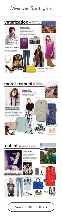 """Member Spotlights"" by polyvore ❤ liked on Polyvore featuring Sloane Stationery, Judith Leiber, Free People, dVb Victoria Beckham, Anna Sui, RED Valentino, Darya London, Dolce&Gabbana, MemberSpotlight and ASOS"