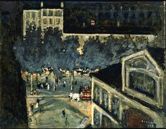 Pierre Bonnard / Paris Boulevard at Night, 1900
