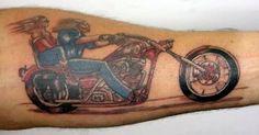 Low Rider Racer Tattoo - http://www.tattooideascentral.com/low-rider-racer-tattoo/