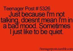 Silence is an option...