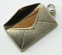 Edwardian Silver Plated First Aid Envelope Charm Opens to original plaster - sandy turlock's