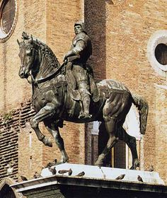 andrea del verrocchio - equestrian statue of the condottiere bartolommeo colleoni, cast by alessandro leopardi, venice, italy. Italian Renaissance Art, Equestrian Statue, Roman History, Draw On Photos, Roman Art, Chef D Oeuvre, Equine Art, Ancient Romans, Horse Art