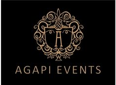 Black and Gold Elegance Gala Events Planner Coordinator Business