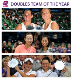 ‏Sara Errani & Roberta Vinci Awarded the #WTA Doubles Team of the Year - Sara & Roberta took Team Italy to the Fed Cup Championship in 2013.  2013 WTA Year-End Doubles Champions in Istanbul Hsieh/Peng & The Championships Winners Barty/Dellacqua were also in the running.  #tennis @_WTA