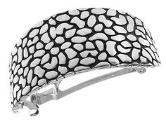 L. Erickson Pebbled Metal Ponytail Barrette - Silver >>> Read more  at the image link.