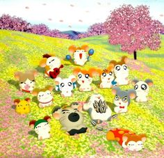 Hamtaro wallpaper and high quality picture gallery on Minitokyo. 7 wallpapers and 36 scans. Hamtaro, All Poster, Poster Prints, Fanart, Anime Shows, Wallpaper Backgrounds, Pikachu, Childhood, Kawaii
