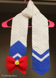 Sailor Moon Scarf, Inspired by the Anime (Crochet Pattern Only, Digital Download), Wrap, Venus, Mars, Jupiter, Mercury, Mini, Pluto, Neptune by xMangoRose on Etsy https://www.etsy.com/listing/204784530/sailor-moon-scarf-inspired-by-the-anime