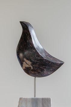 Stone Sculpture, Sculpture Art, Sculptures, Organic Sculpture, Ceramic Birds, Soapstone, Egg Chair, Folk Art, Pottery