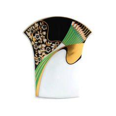 Rosenthal Studio Line Modernist Fan Vase Vintage Art Deco Art Nouveau... (155 CAD) ❤ liked on Polyvore featuring home, home decor, vases, rosenthal, rosenthal vase and porcelain vase