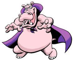 Hypnopotamus, villain World Wildlife Federation, Minnie Mouse, Disney Characters, Fictional Characters, Superhero, Animals, Art, Art Background, Animales